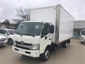 2015 HINO 195 20FT DRY BOX WITH RAMP