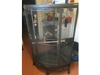 Parrot cage for sale bargain with toys and food