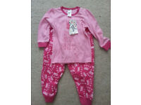 BNWT Pink Pyjamas for 2 Year Old Girl