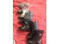 Girls boots bundle size 4 5 6