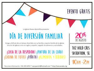 Free Family Fun Day/Día de diversión familiar española