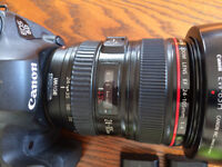 Canon 6D and 24-105 f4 lens. Camera £750, Lens £320.