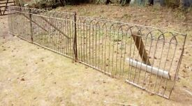3 matching antique/vintage wrought iron rounded top railing panels-each 6 ft x 3 ft-£50 for the 3