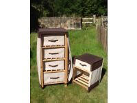 Storage drawers and bedside unit