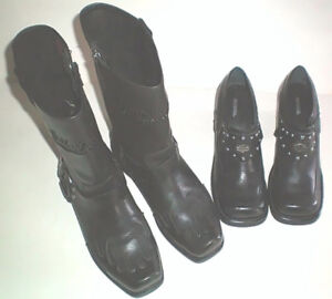 Harley Ladies New Leather Boots Size 7 and Shoes Size 7.5