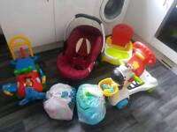 Bundle, car seat, booster seat, scooter