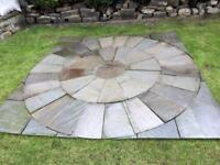 Indian flagstone circle with squaring off kit £180 Ono ,stone flags
