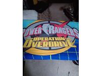 Power Rangers duvet sets, lightshade, curtains.
