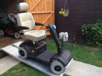 Heavy Duty Pride Celebrity Mobility Scooter Matt Black-8MPH Fast-New Batteries-Any Terrain Only £395