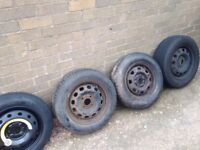 New Tyres on used wheels various sizes.