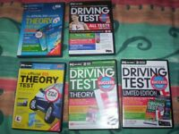 6 x Driving test simulation dvd's and 1x Hot Pursuit Playstation Game