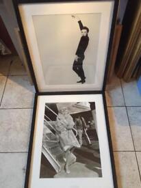 Pair of framed Limited Edition Audrey Hepburn/ Marilyn Monroe prints