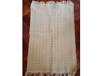 Small rug - cream and sage green