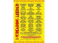 Reading Festival 2017 Weekend Ticket Eminem/Korn/Kasabian/Muse