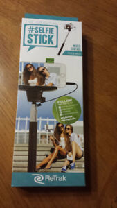 ReTrak Selfie Stick - Wired. $8, pickup only