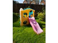 Little tikes slide with claiming wall
