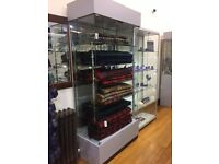 4 glass display cabinets for shop! Individual or multiple for good deal.