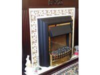 Wooden fire place suite