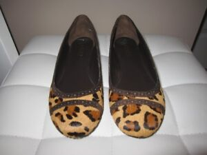 Ralph Lauren - Leather Leopard Print Flats