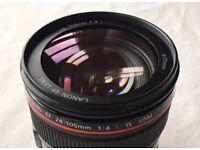 Canon 24-105L lens. IS USM
