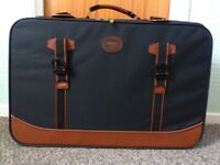 2 x zipped canvas suitcases