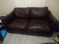 Very comfy Faux Leather Sofa