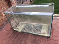 220 Litre All Glass Aquarium Fish Tank (+ LED & red strip light) including heater and sand & filter