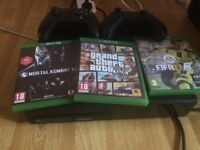 XBOX ONE 500GB WITH FIFA 17, MORTAL KOMBAT XL & GTA 5