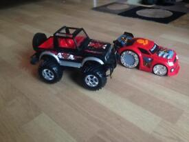 Toys truck and Racing car