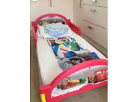 Toddler Bed, Mattress and bedding