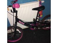 Girls bmx bike black & bright pink