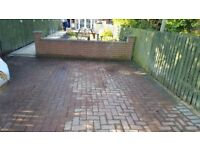 Block paving used 20square metres brindle and charcoal