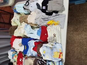 Boys 6 mth clothing 69 pieces- have girls bundle too
