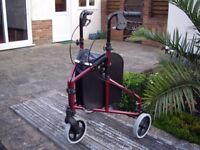 MOBILITY STROLLER 3 WHEELED WITH REMOVABLE CARRY BAG .