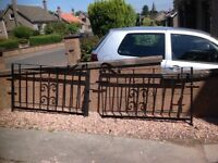 Black Wrought Iron gates. Suitable for a driveway