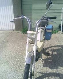 Classic vintage bike mobylette motorbike size of scooter low insurance