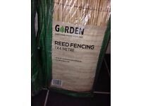 2 lots of reed fencing 1 x new unopen 1 x open but unused