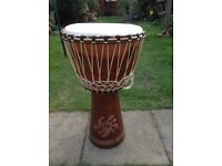 Beautiful African Djembe Drum (full size)