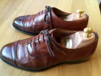 Churches Consul Nevada Walnut Calf leather mens handmade formal shoes, size 9, RRP £385