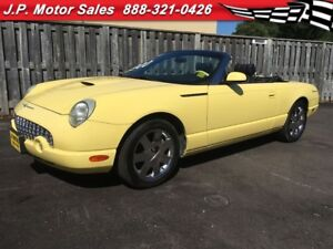2002 Ford Thunderbird Automatic, Leather, Convertible,