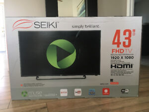 "Brand new in the box 43"" SMART Seiki HD LED TV"