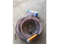 12 volt Submersible pump and 20mm reinforced hose.. Wilberfoss