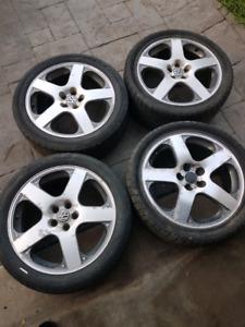 OEM VW wheels 99-2005 mk4 jetta/golf    5x100 / tires no good !