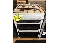 INDESIT BRAND NEW 60CM ALL GAS COOKER IN WHITE