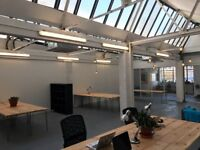 Office and desk space available immediately in creative studio - Hackney London Fields.