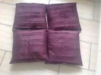 4 maroon cushions