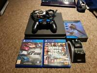 Ps4 slim 500GB with GTA 5 and The Crew.