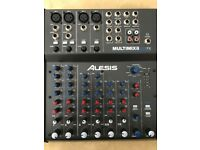Alesis MultimixX8 USB FX - 8 Channel Mixer/USB Recording Interface - Like New