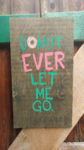 Hand painted donut sign