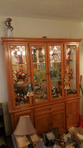 Beautiful oak display China cabinet